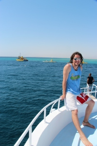 Enjoying my time on our private yacht in the Red Sea