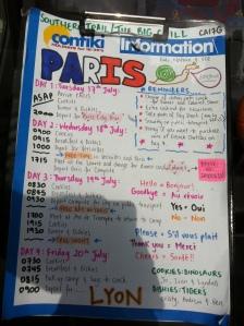Paris Daysheet