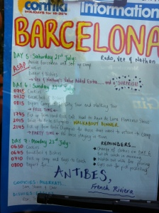 Barcelona Day Sheet