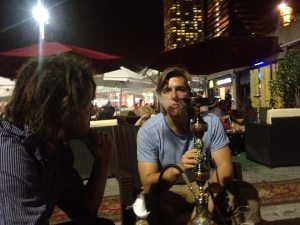 Hamish and Me enjoying a Spanish Shisha