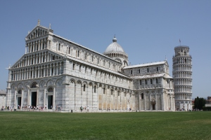Inside the Leaning Tower of Pisa gardens