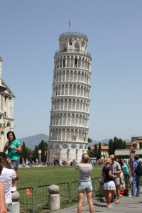 The Tower of Pisa's massive lean