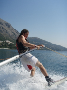 Georges boat wakeboarding